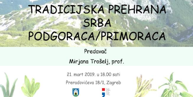 Tradicijska prehrana Srba Podgoraca/Primoraca