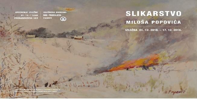 Otvorena izložba slika Miloša Popovića